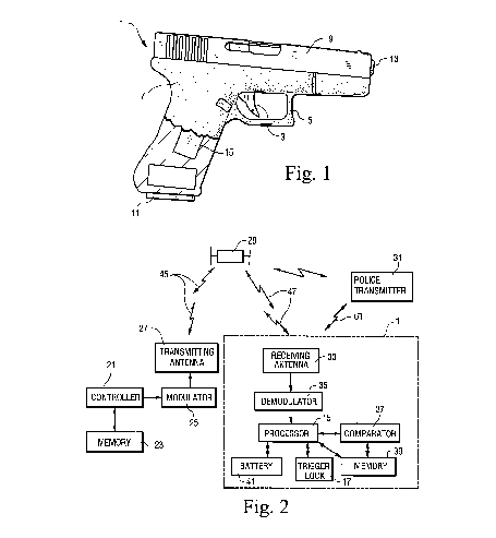 Firearm with Remote Safety System